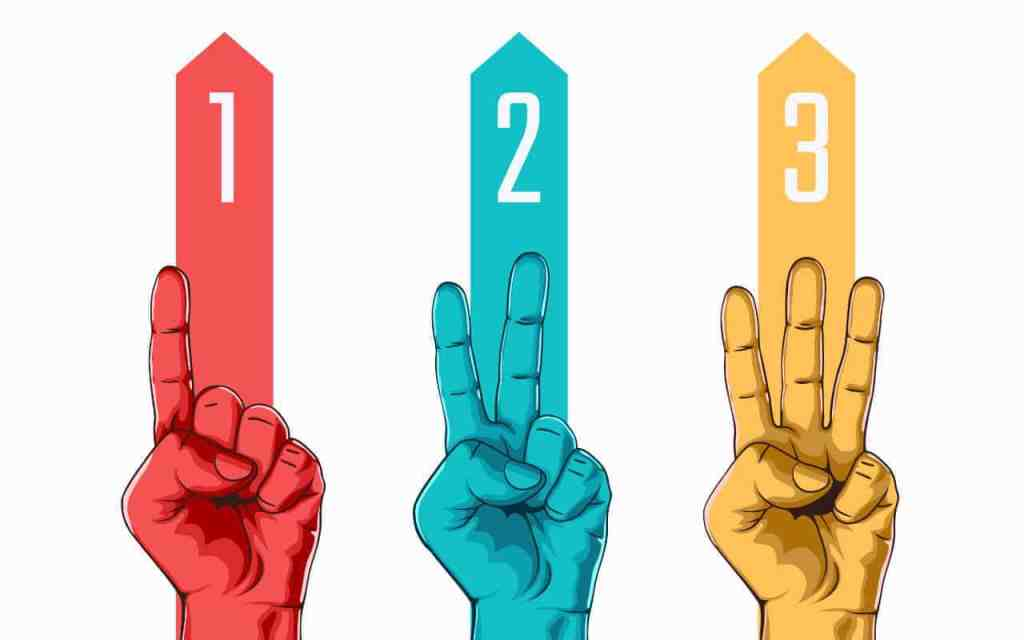 1-2-3 in fingers