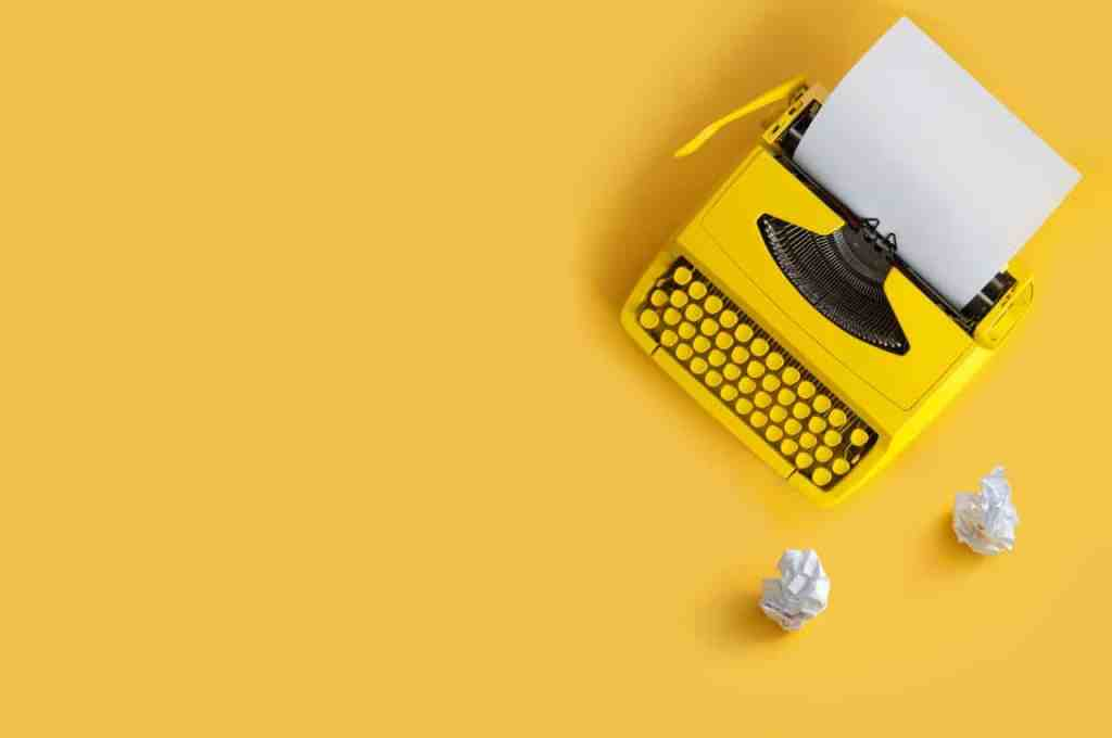 Writing inspiration - typewriter