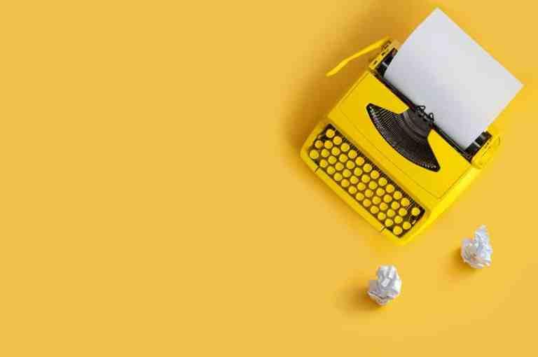 Writing inspiration - typewriter