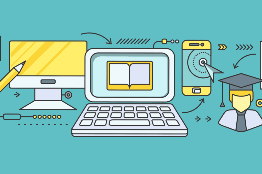 Digital education graphic